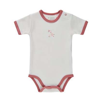 Fixoni kojenecké body krátký rukáv 422005-5718  GOTS certifikace