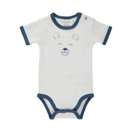 Fixoni kojenecké body krátký rukáv 422005-7337  GOTS certifikace