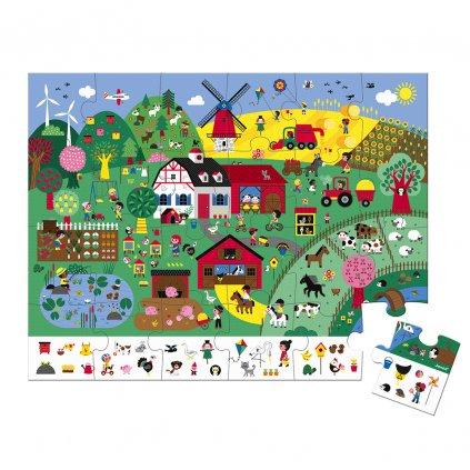 J02660 Janod puzzle farma 24 ks 01