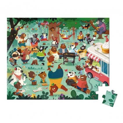 J02668 Janod puzzle rodina medvedov 54 ks 01