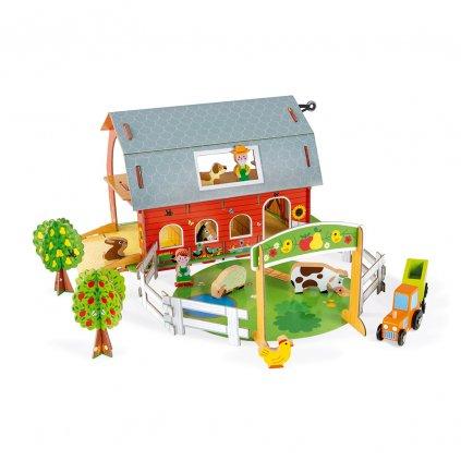 J08577 Janod kartonova stavebnica farma story 01