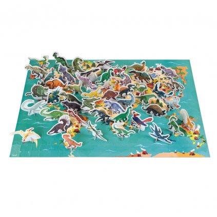 J02679 Janod vzdelavacie puzzle dinosaury 200 ks 01