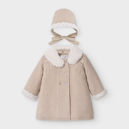 abrigo tricot con capota recien nacido nina id 10 02459 035 800 4