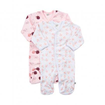 Pippi novorozenecký dětský overal set 2 ks 3821-501