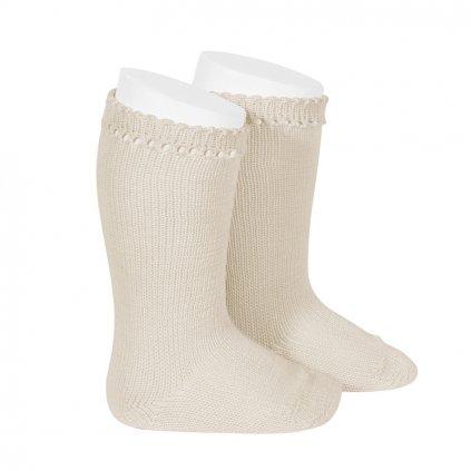 perle knee high socks linen