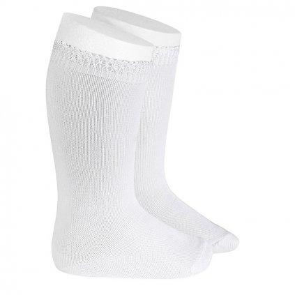 ceremony high socks openwork cuff white