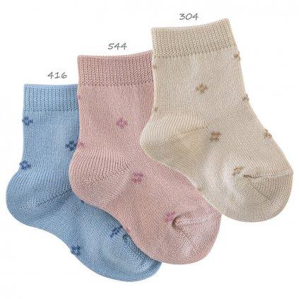plaid border short socks