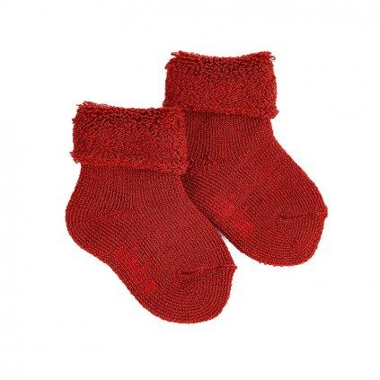 wool terry short socks with folded cuff cauldron
