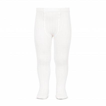 wide rib basic tights white