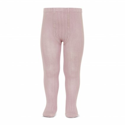 wide rib basic tights pale pink