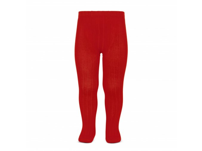 basic rib tights red