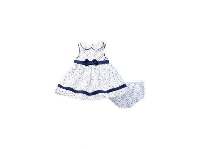 Little Me kojenecké luxusní puntikaté šaty