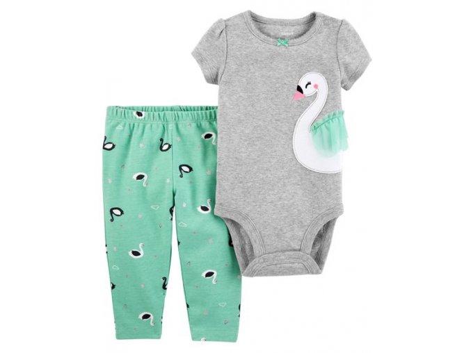 Carter's kojenecká souprava body s labutí a s legíny