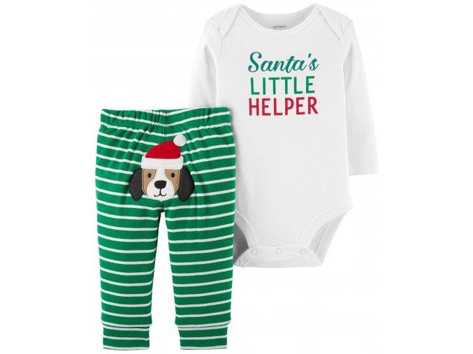 Carter's kojenecká vánoční souprava santův pomocník