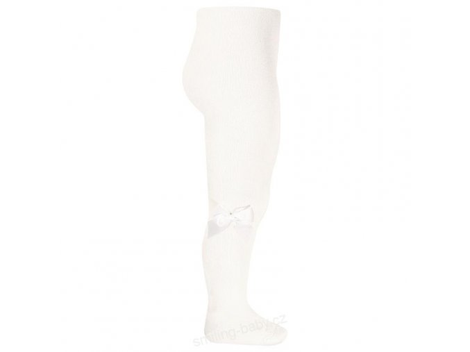 vyr 319 tights with side grossgrain bow cream