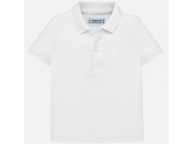 Mayoral chlapecké polo triko bílé 102-65