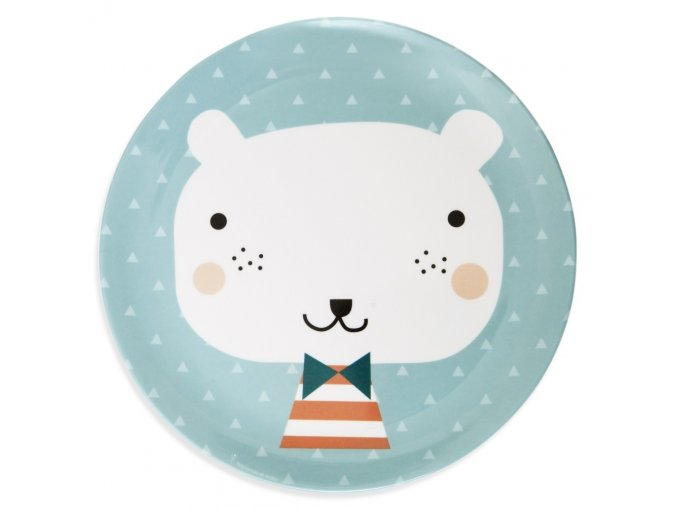 melamine plate bear triangles mpb26 web