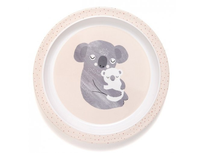 melamine plate koala border mpb35