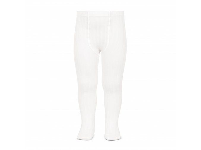 wide rib basic tights white