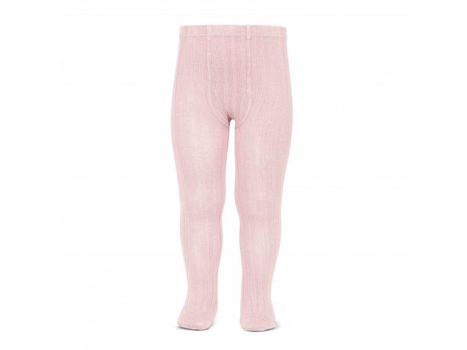 wide rib basic tights pink