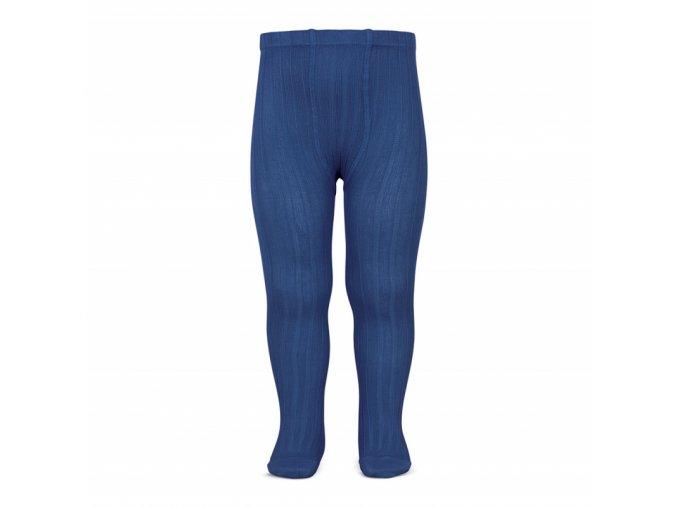 wide rib basic tights indigo blue