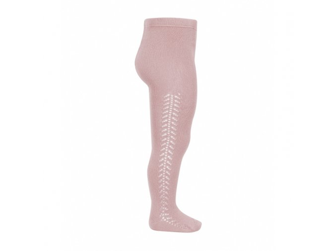 side openwork warm tights pale pink (1)