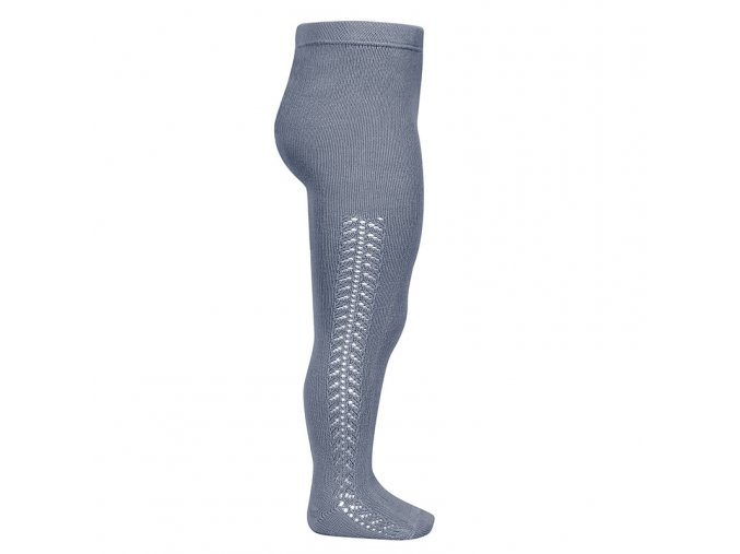 side openwork warm tights steel