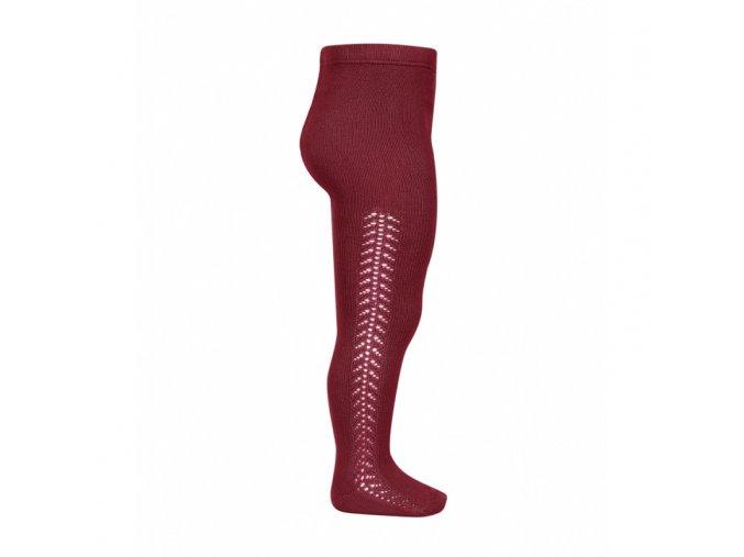 side openwork warm tights ruby (1)