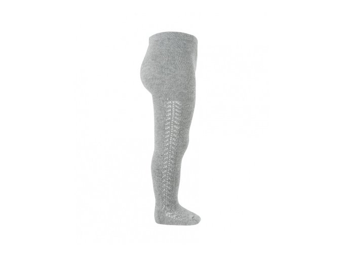 side openwork warm tights aluminium