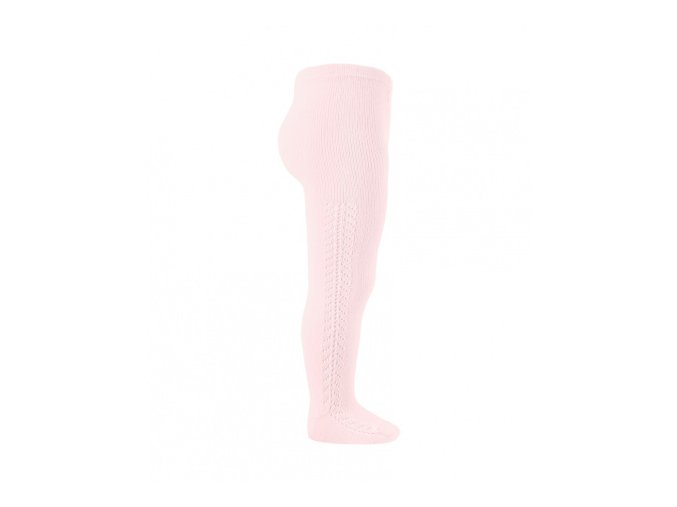 side openwork warm tights pink