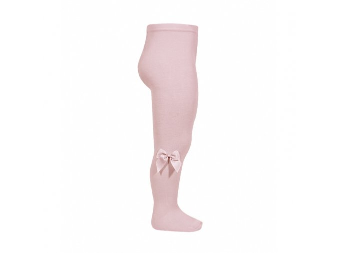 tights with side grossgrain bow pale pink