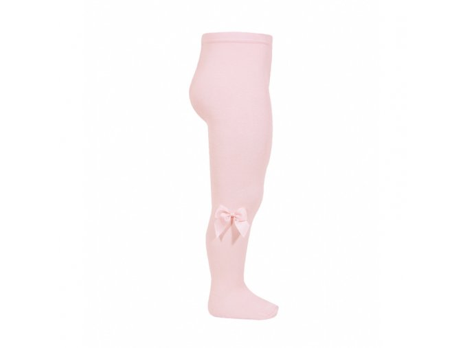 tights with side grossgrain bow pink