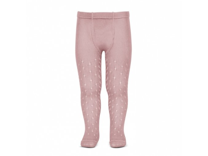 perle openwork tights lateral spike pale pink