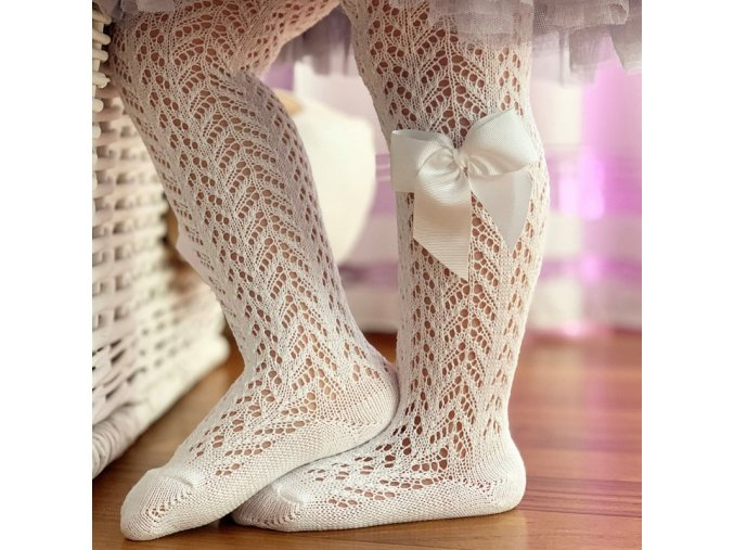 openwork perle tights with side gorssgrain bow (9)