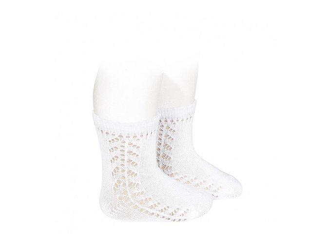 baby side openwork short socks white