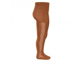side openwork warm tights oxide