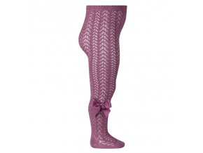 perle openwork tights with bow cassis