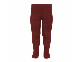 basic rib tights burgundy