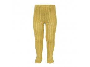 basic rib tights mustard