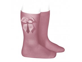 knee high socks with side bow tamarisk