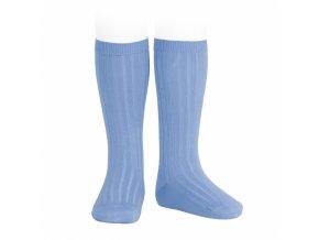 wide rib basic knee high socks tile 93