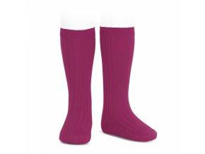 wide rib basic knee high socks petunia 93