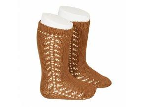 side openwork knee high warm cotton socks oxide