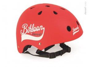 J03270 Cyklisticka prilba pre deti Bikloon cervena Janod s ventilaciou velkost 47 54 cervena a