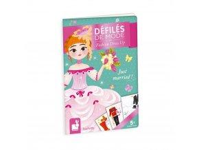 J07840 Kreativna hracka pre dievcata Maly zosit s nalepkami a omalovanka Moda Svadba 90