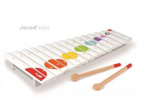 J07605 Velky dreveny xylofon pre deti Confetti Janod od 2 rokov a