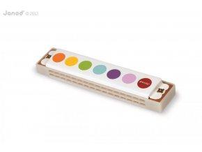 J07609 Ustna harmonika pre deti Confetti Janod s realnym zvukom od 3 rokov a