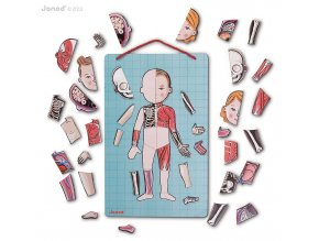 J05491 Magneticka skladacka Ludske telo svaly kostra organy Bodymagnet Janod od 7 rokov 2