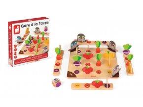 J08246 Spolocenska hra pre deti Krtkovia Janod na rychlost a pozornost pre 2 4 hracov od 3 rokov 2