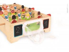 J02070 Dreveny futbalovy stol Champions Janod so sietkovou brankou od 3 8 rokov 1